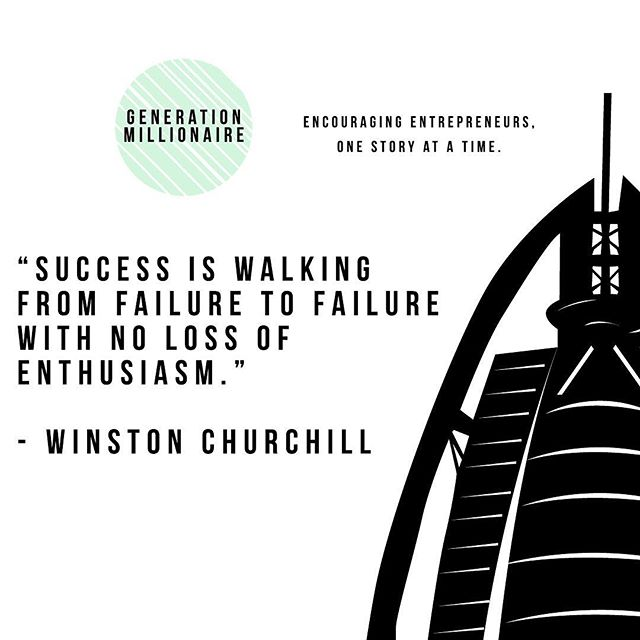 Don't let failures get you down. Learn from them and keep moving!  #generationmillionaire #entrepreneur #business #instagood #instabusiness