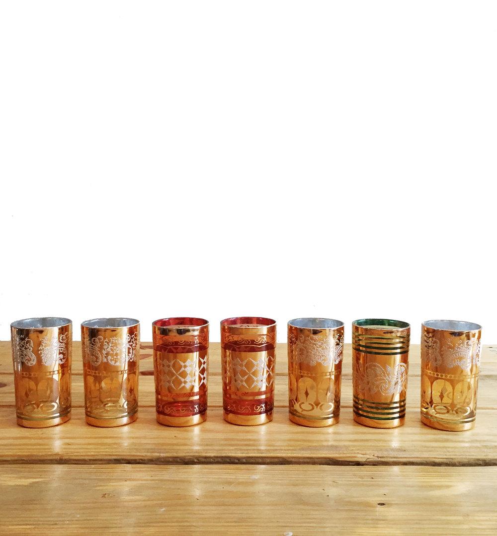 Vintage Gold Votive Set