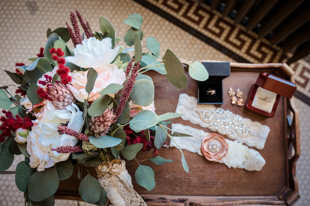 Gorgeous wedding details from the bride and groom at the Festivities Event Center, El Reno, OK