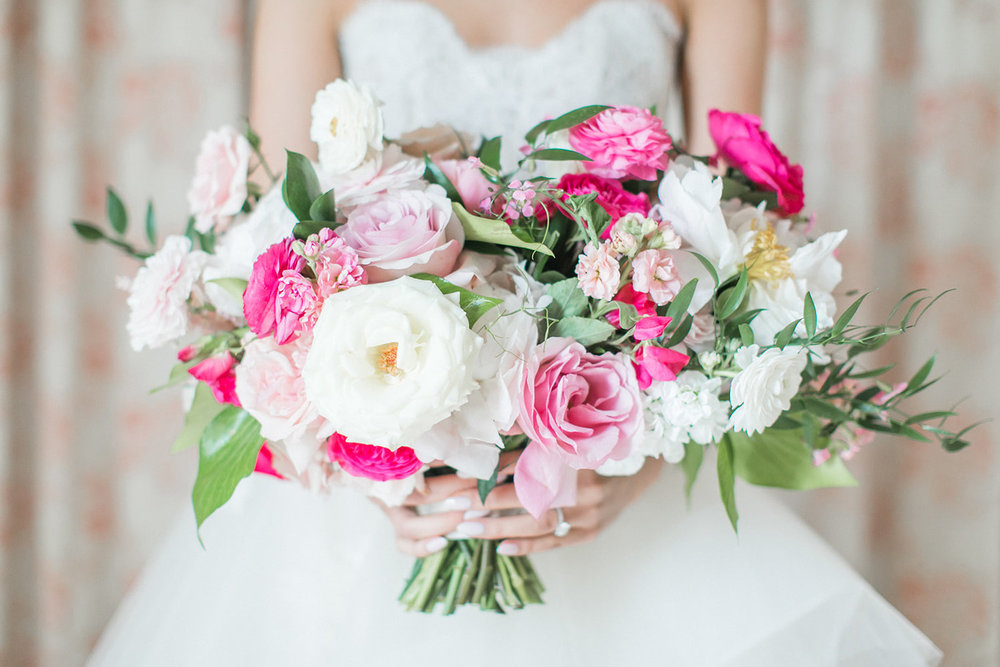 Greenwich Connecticut wedding bridal bouquet roses pink ranuculus.jpg