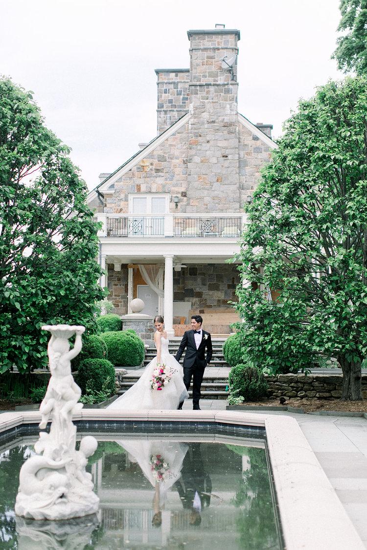 Greenwich Connecticut wedding bride and groom bridal bouquet pink white.jpg