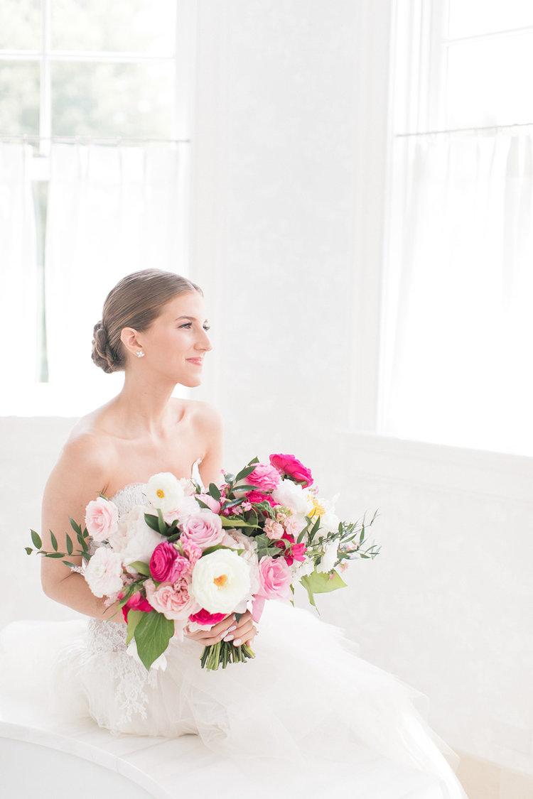 Greenwich Connecticut wedding bride bridal bouquet pink roses peonies.jpg