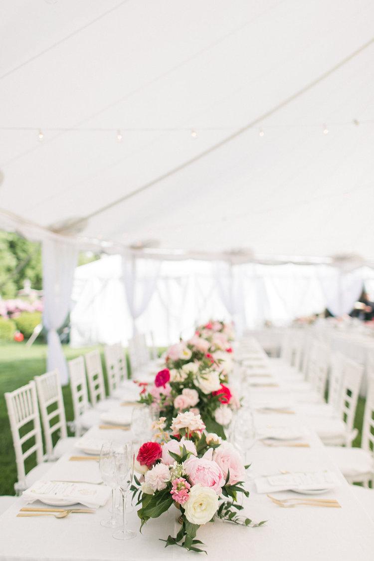 Greenwich Connecticut wedding long centerpiece pink white garden roses peonies.jpg