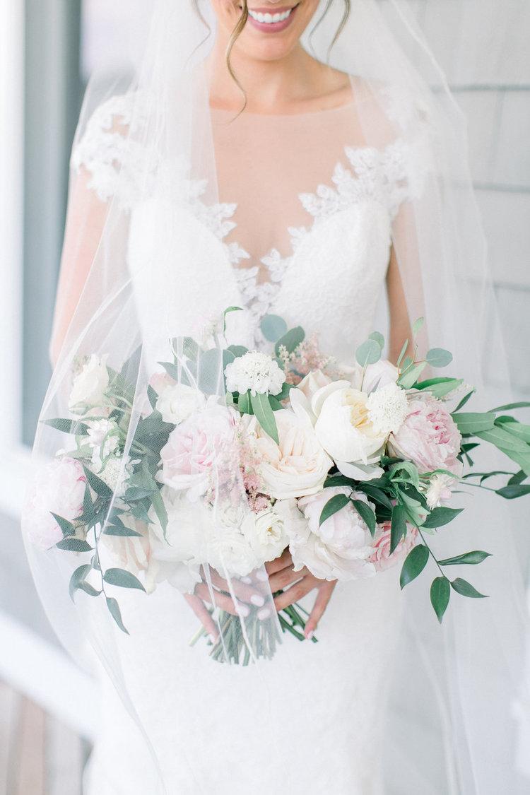 Shorehaven Golf Club wedding bridal bouquet blush white peonies garden roses.jpg