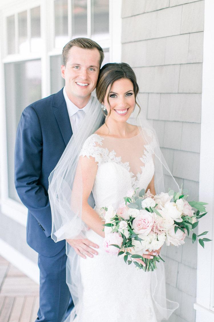 Shorehaven Golf Club wedding bride groom bridal bouquet pink white peonies garden roses.jpg