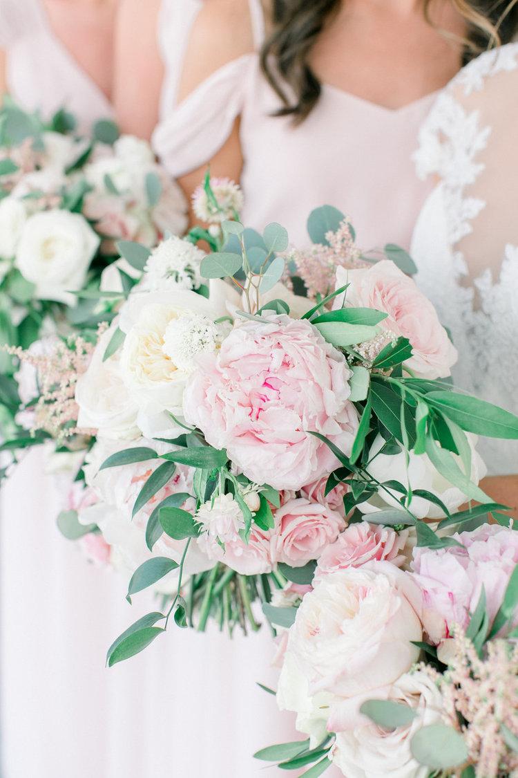 Shorehaven Golf Club wedding bridesmaids bouquets blush peonies garden roses.jpg