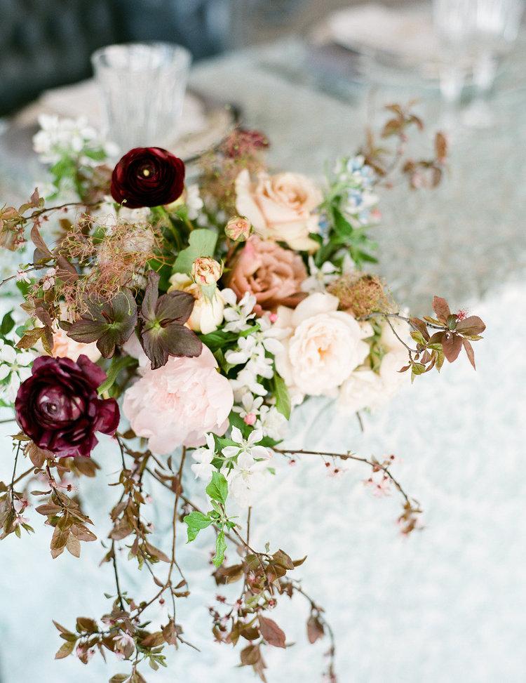 centerpiece fall blush maroon white peonies garden roses.jpg