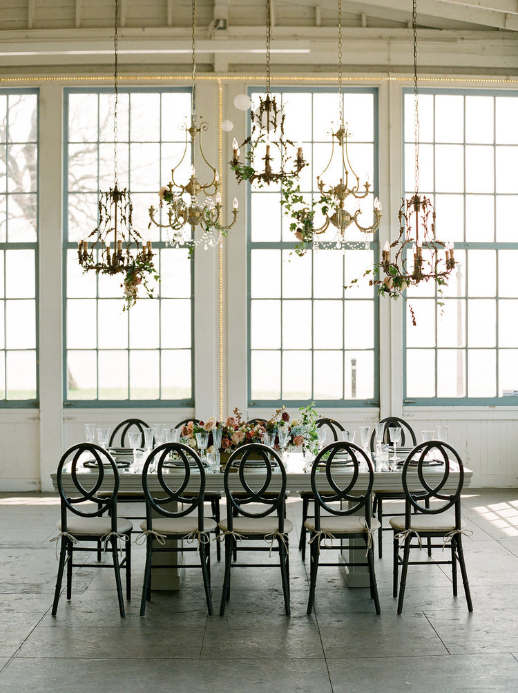 table centerpiece chandelier hanging greens .jpg