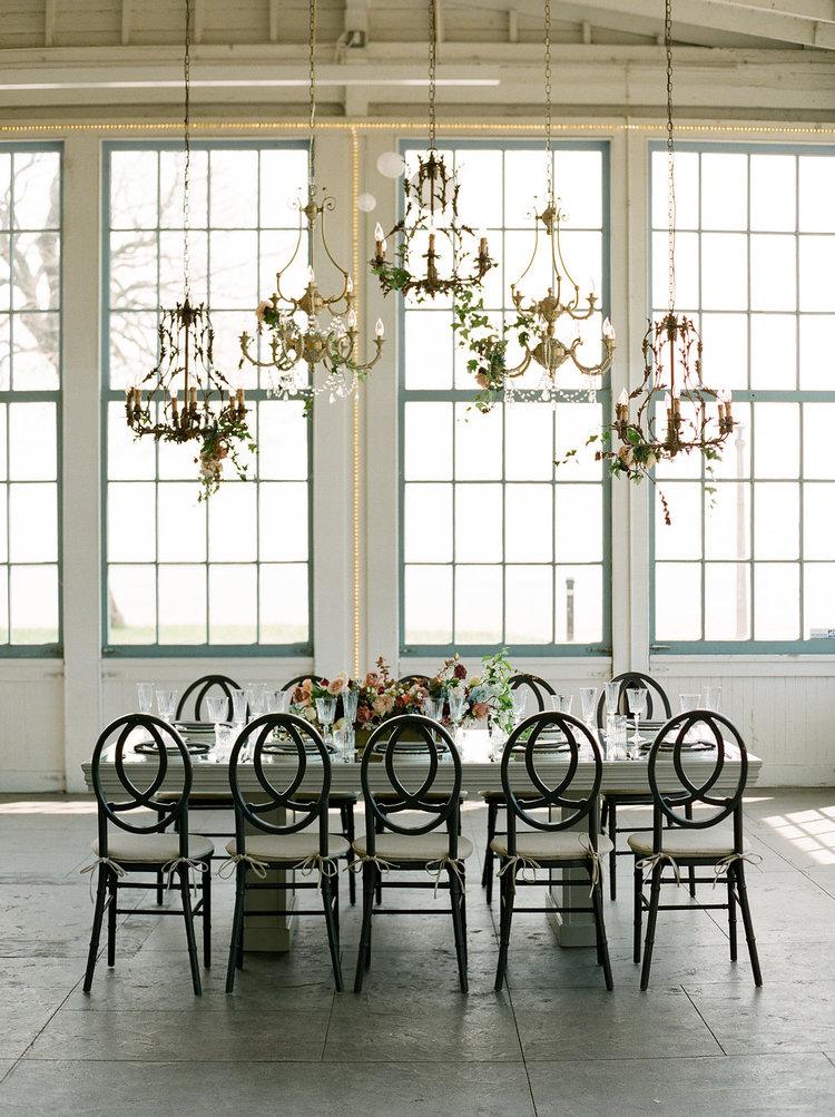 table centerpiece chandelier hanging greens .jpg