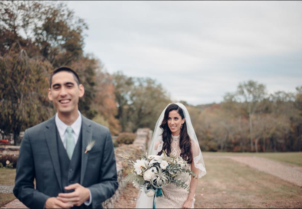 Woodstock Connecticut wedding bride groom first look bridal bouquet .png
