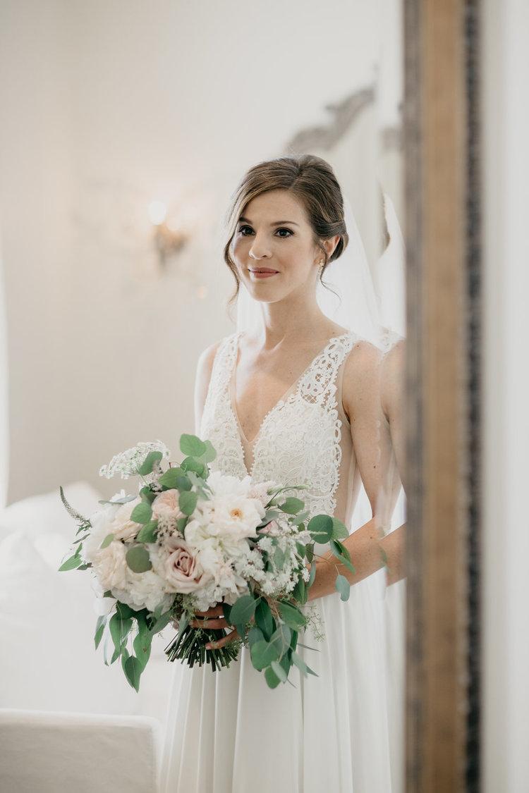 Golf Club boston wedding bride bridal bouquet blush white roses eucalyptus.jpg