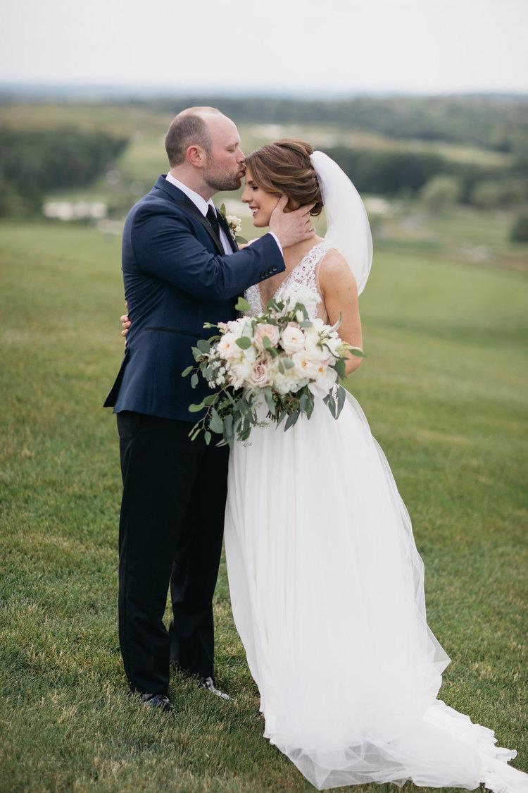 Golf Club boston wedding bride and groom bridal bouquet white blush roses eucalyptus.jpg