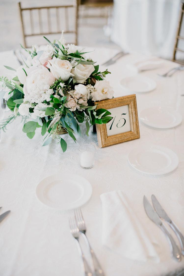 Golf Club boston wedding floral centerpiece blush white peonies roses greens.jpg