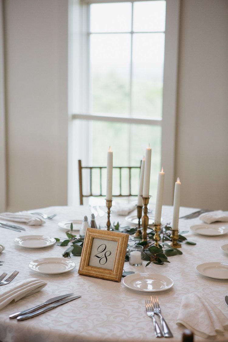 Golf Club boston wedding reception centerpiece taper candles greens.jpg