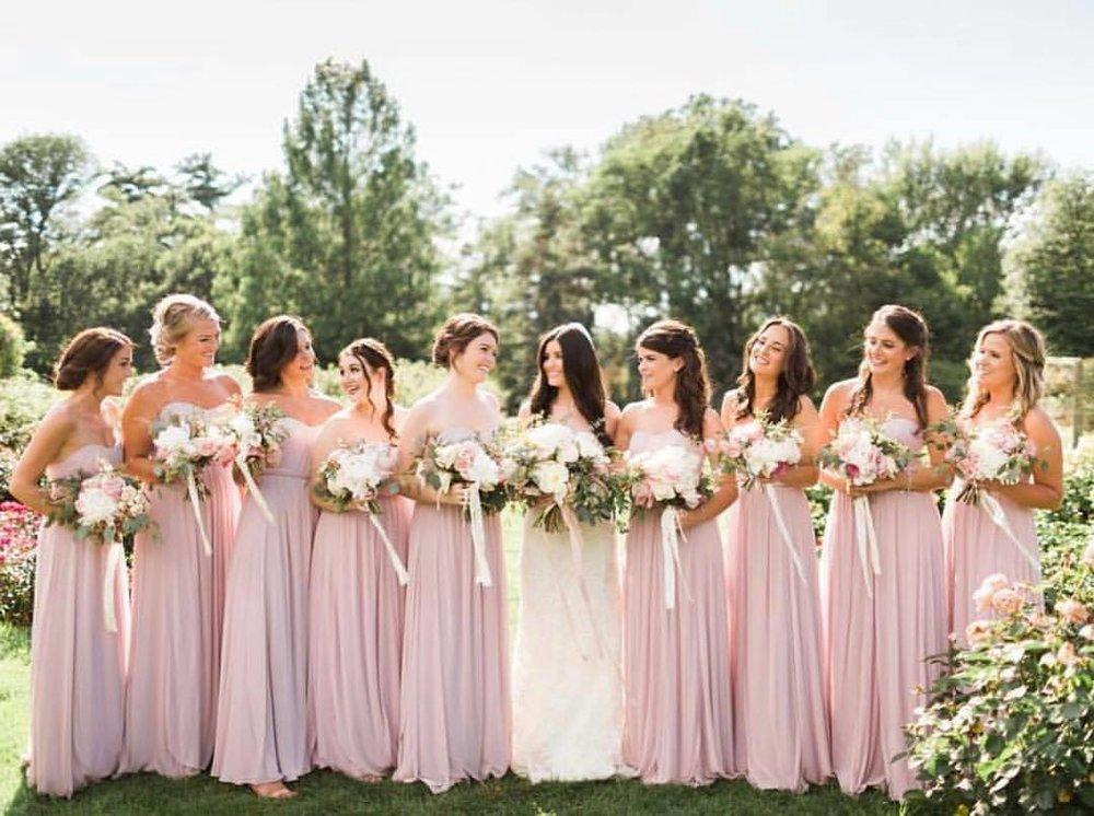 summer wedding blush white bridesmaids bride bridal bouquets peonies.jpg
