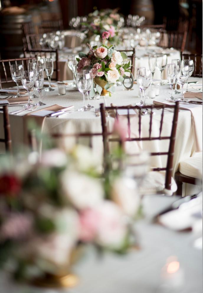 Saltwater Farm Vineyard wedding reception centerpiece blush white compote.png