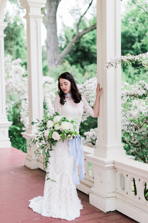 wedding bridal bouquet bride greens whites outdoor.jpg