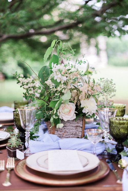 Wedding centerpiece peach blush white.jpg