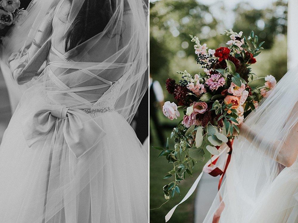 Wadsworth Mansion wedding bridal bouquet peach maroon burgundy zinnia foxglove.jpg