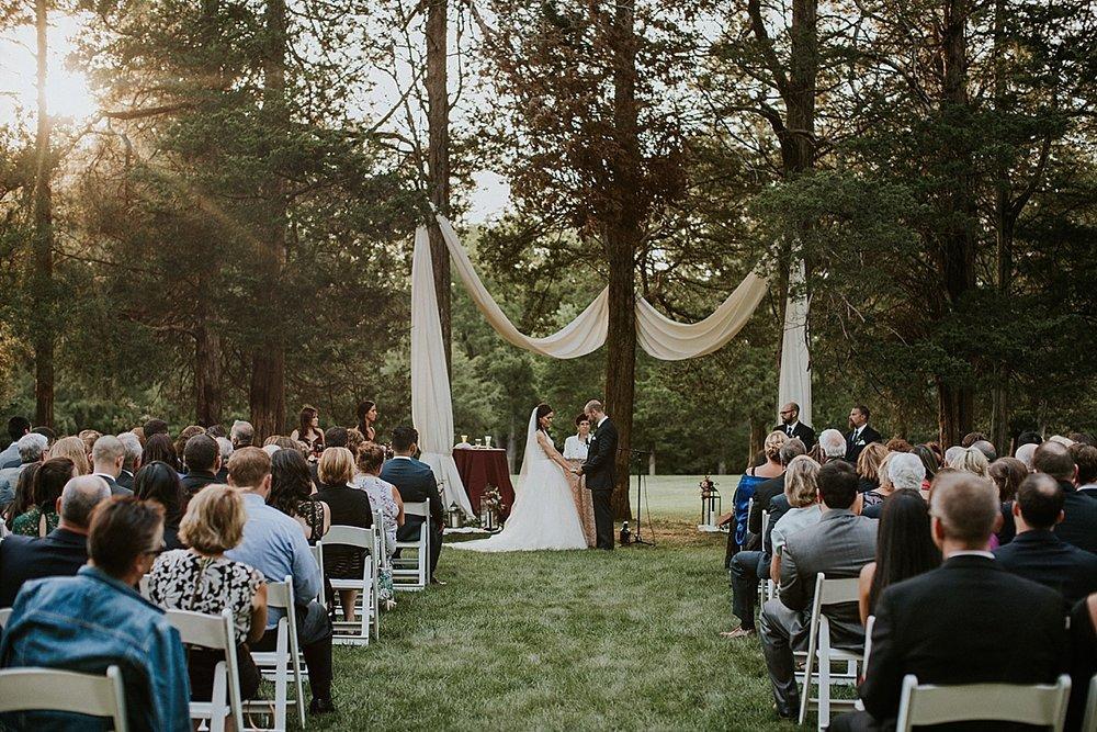 Wadsworth Mansion wedding ceremony outdoors draping lanterns.jpg