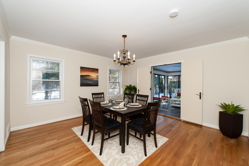Dining Room Opens to Porch