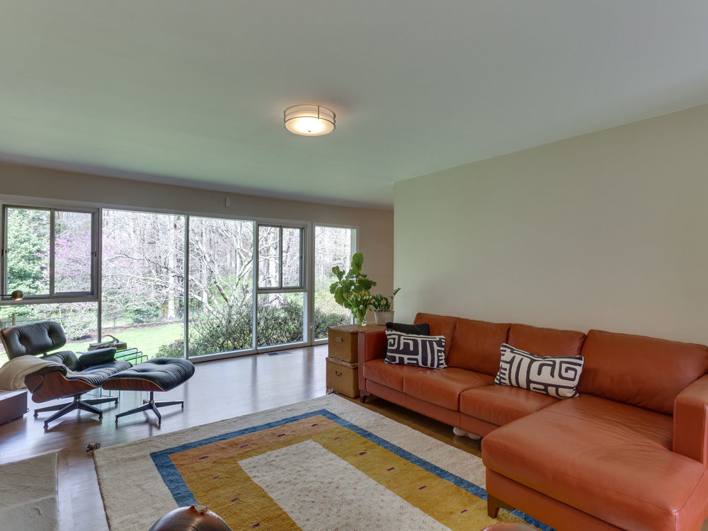 Living Room with Walls of Windows