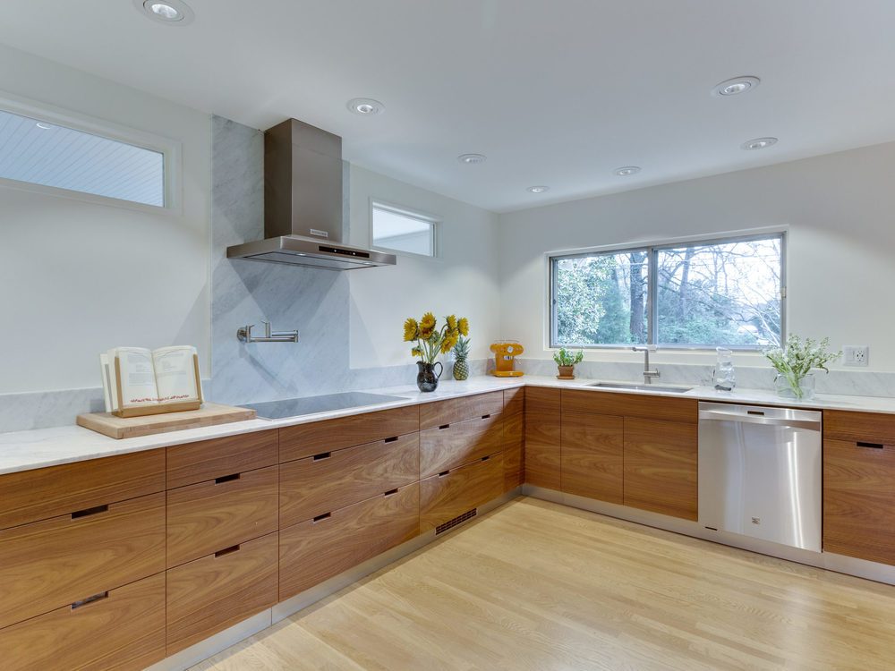 Kitchen with Walnut Cabinets