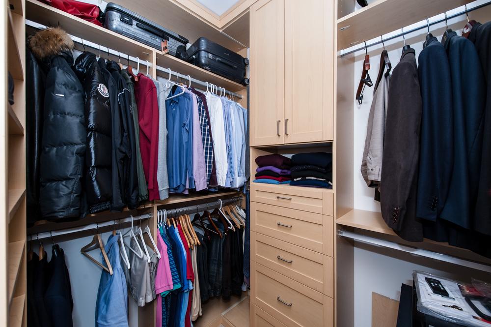 Generous Double Walk-in Closet