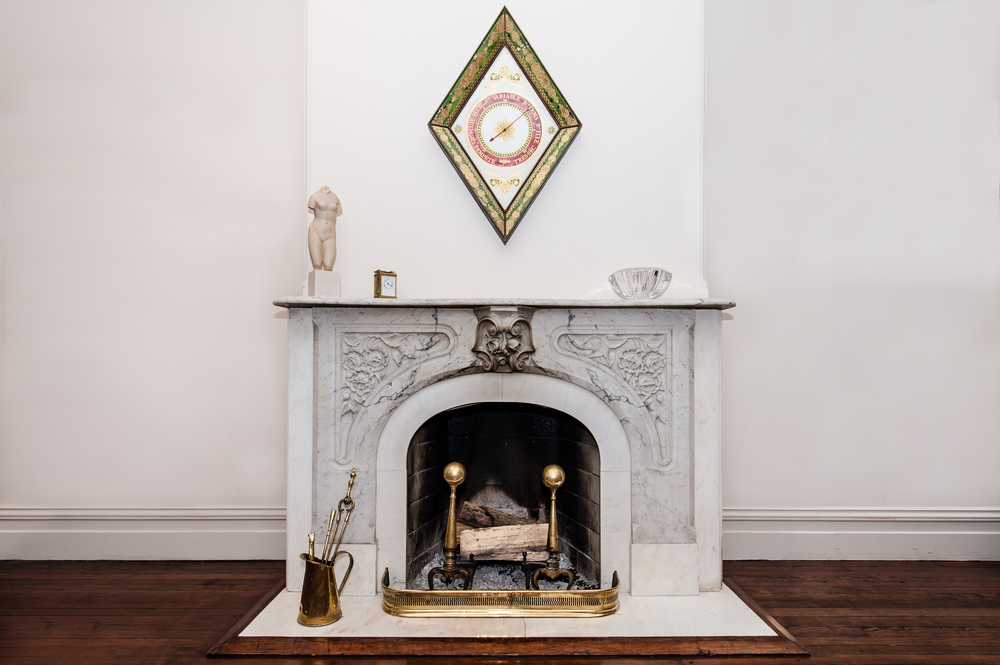 Living Room Exquisite Original Marble Chimneypiece