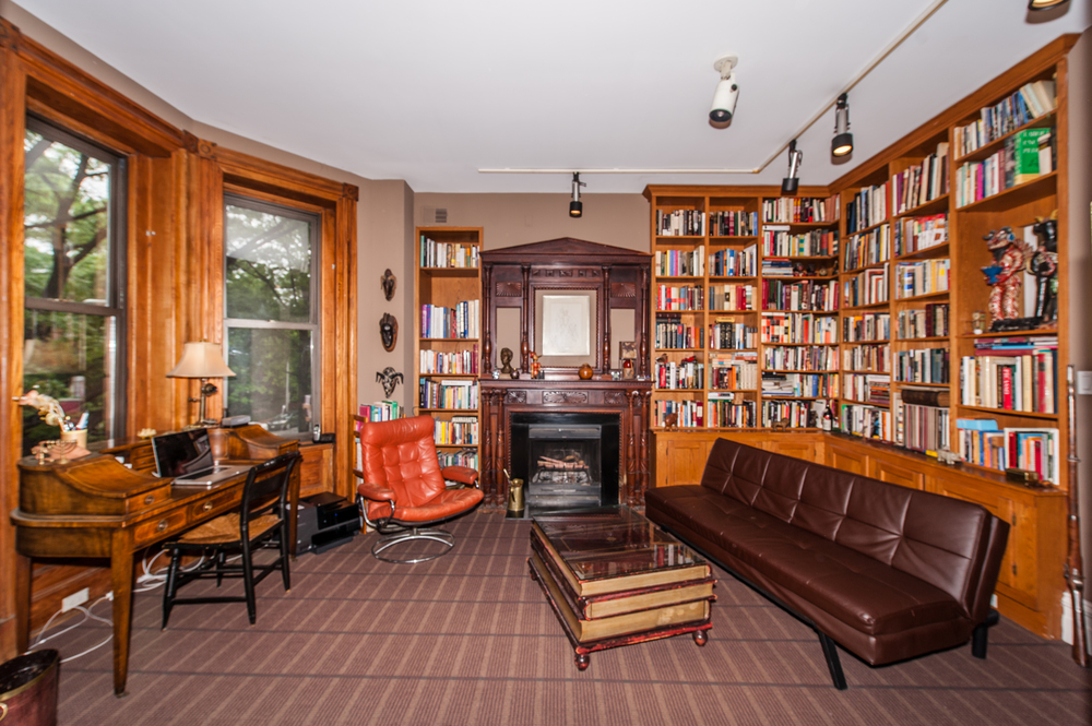 Exceptional Library/Bedroom 2 with Woodburning Fireplace