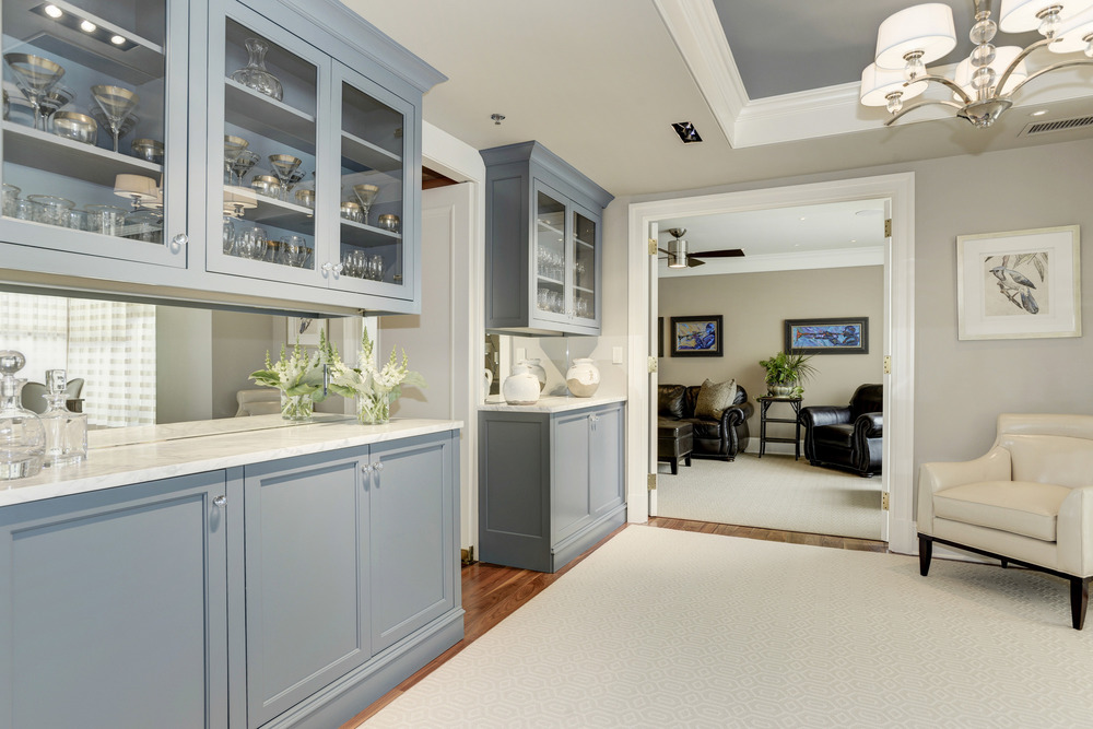 Dining Room with Built-in China Cabinets