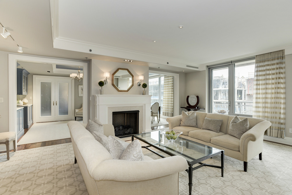 Living Room with Private Balcony
