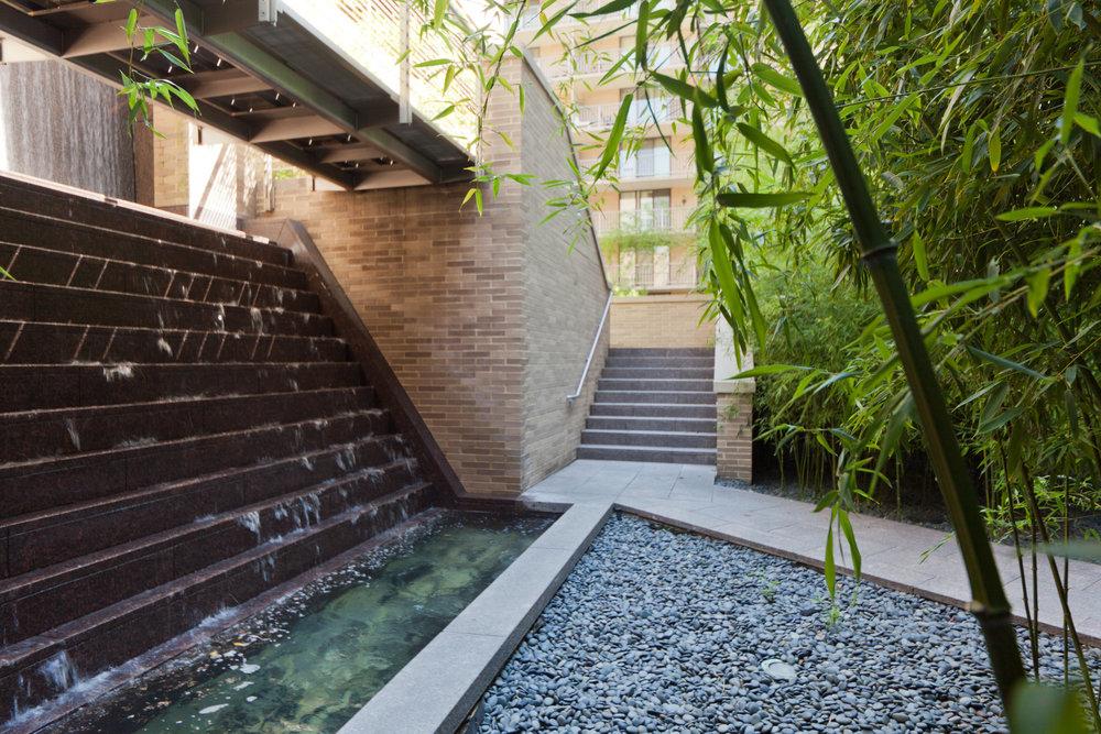 Ritz-Carlton Residences Community Garden and Waterfall