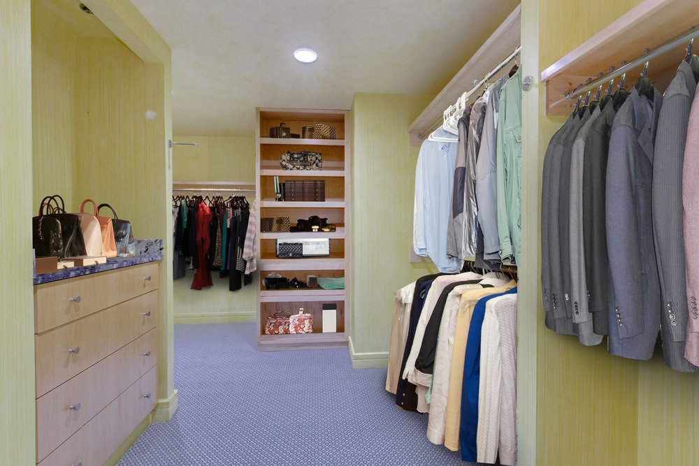 Master Suite Dressing Room and Walk-in Closet