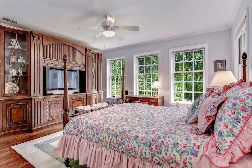 All four bedrooms located on the second level have en suite bathrooms