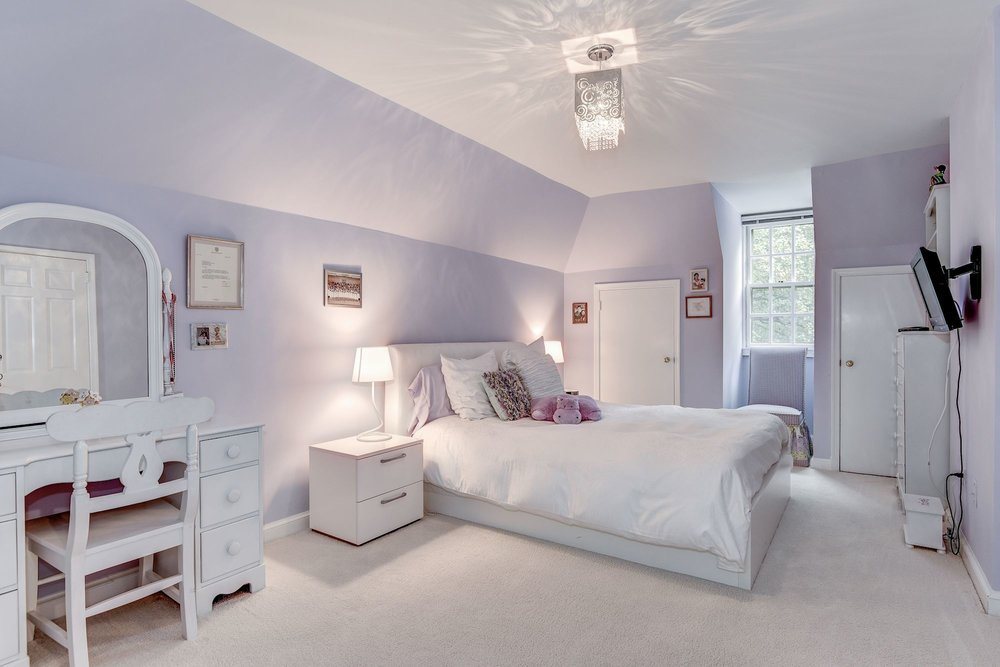 """This upper level bedroom features a """"roughed in"""" en suite bathroom"""