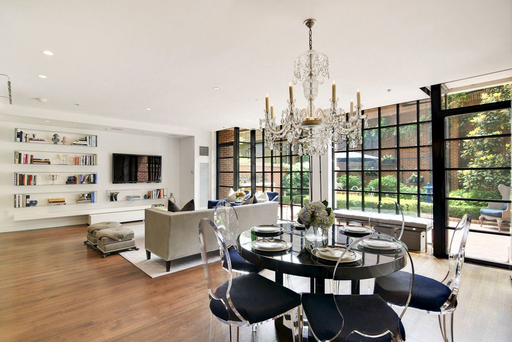 Expansive Living and Dining Room