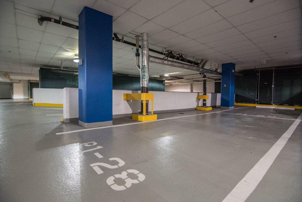 Tandem Parking Spaces and Vast, Secure Storage Room