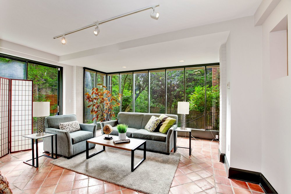 Sunroom opens to Terrace