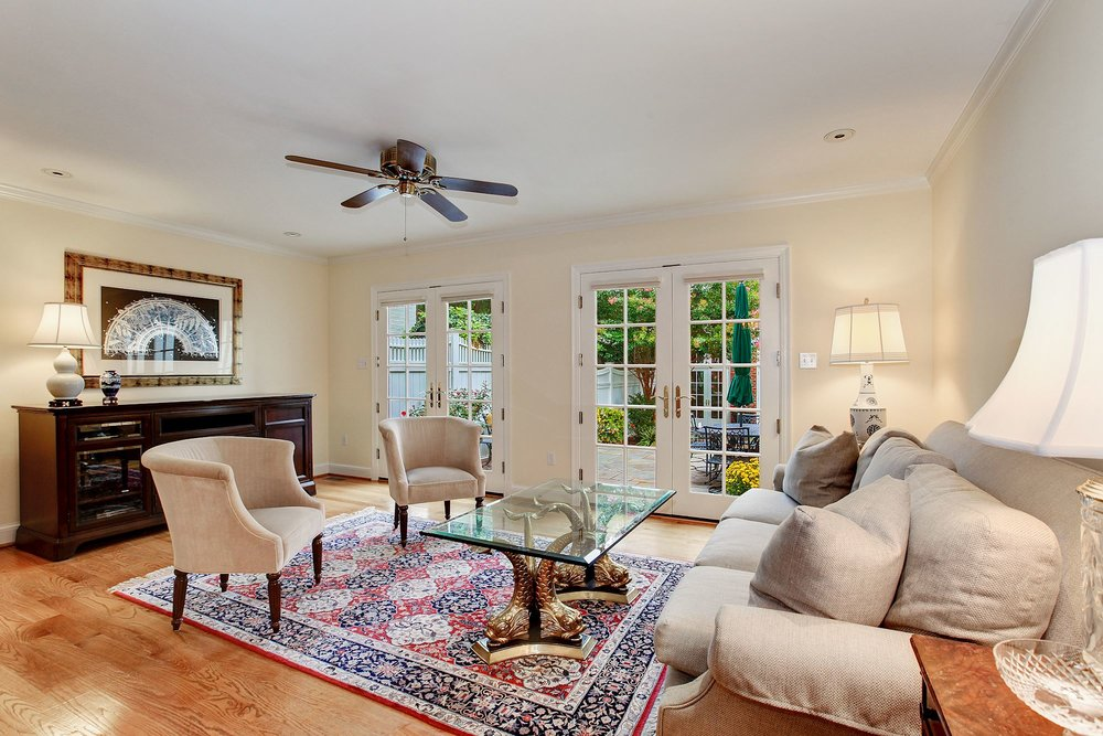 Family Room with Terrace Access