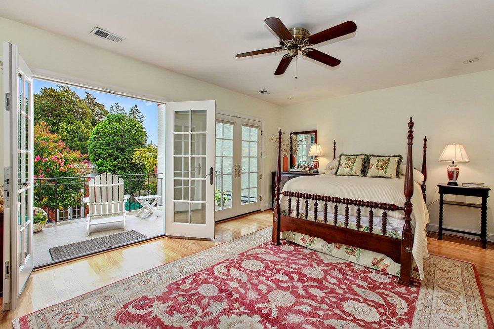 Master Bedroom with Terrace overlooking Garden