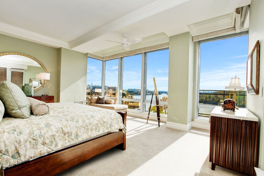 Master Bedroom with Spectacular Panoramic Potomac River Views
