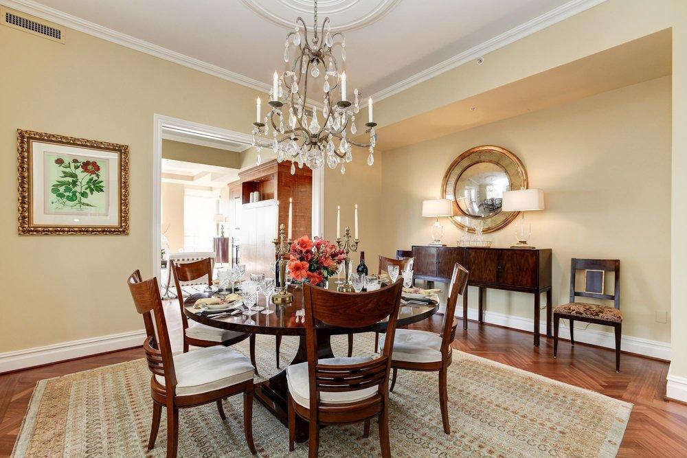 Formal Dining Room open to Formal Living Room