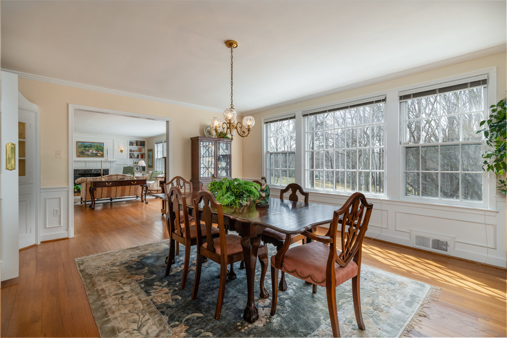 Formal Dining Room with Corner Cupboard