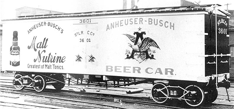 Anheuser-Busch was the first brewery in the United States to distribute its own beer using refrigerated rail cars