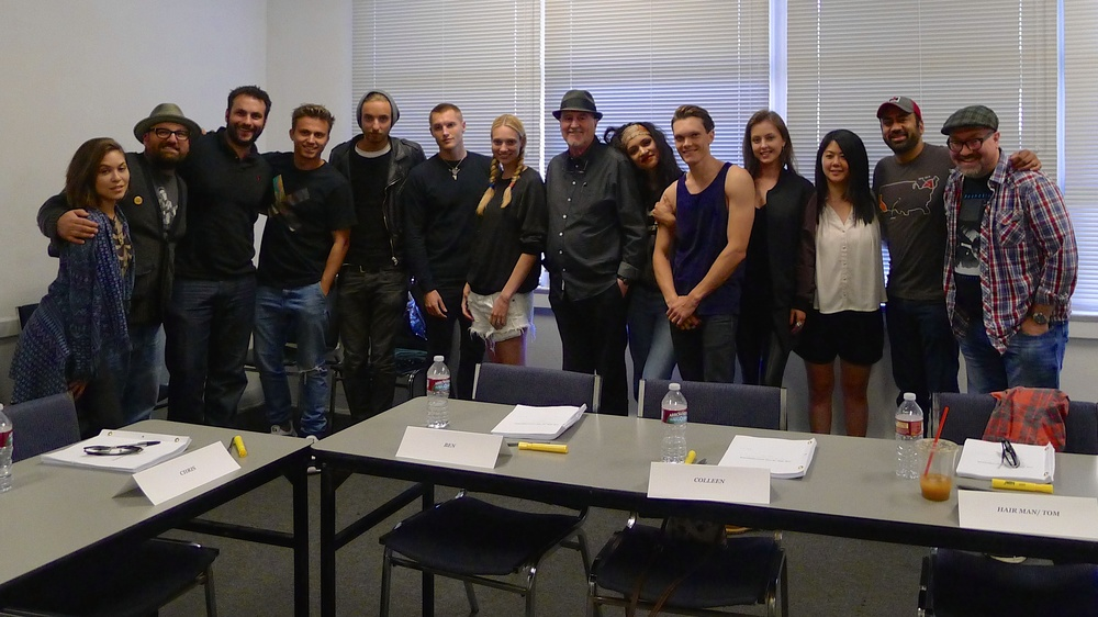 Myself with horror master Wes Craven and the brilliant director and cast of the film  The Girl in the Photographs .