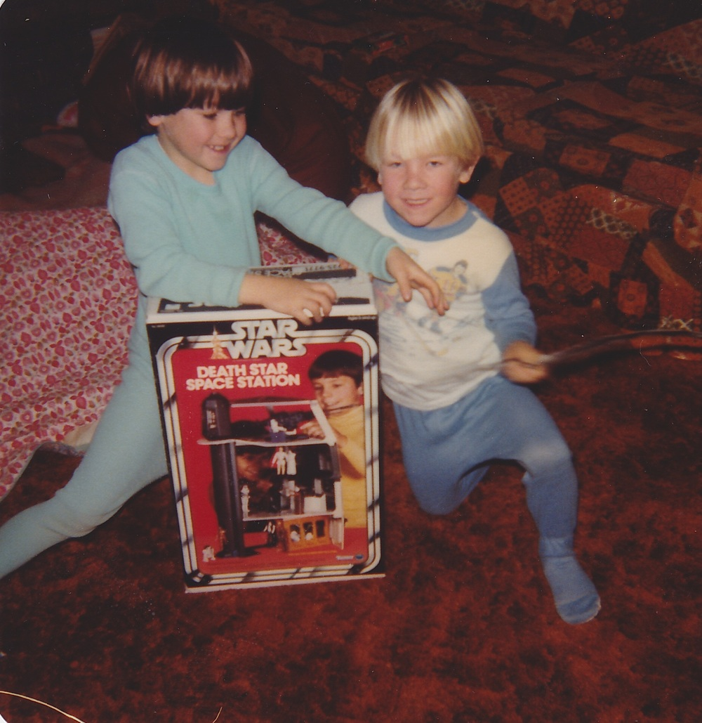 That Death Star still might be the best present I ever got.  (Haircuts provided by bowl.)