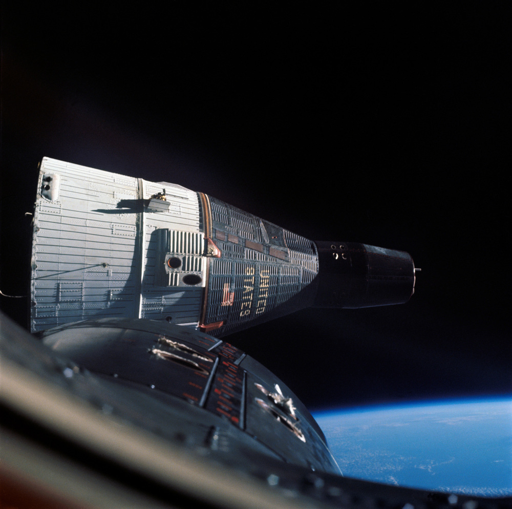 Gemini VII photographed from Gemini VI-A