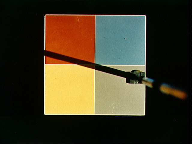 Photograph of MSC-8 color patch outside spacecraft during docking