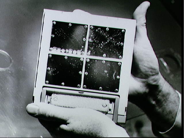 Package of test panels from Agena-8 retrieved by Gemini X